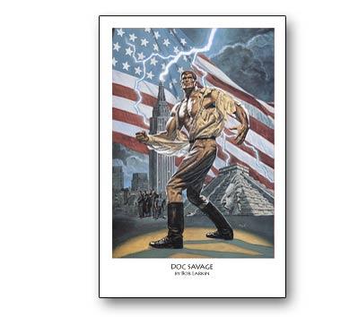 DOC SAVAGE Print by Bob Larkin