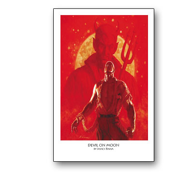 DOC SAVAGE #13: DEVIL ON MOON Print by Bama