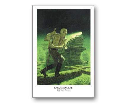 DOC SAVAGE #14: SARGASSO OGRE Print by Bama