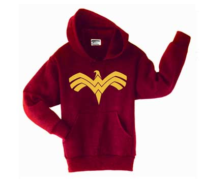 WONDER WOMAN SYMBOL Red Hoodie