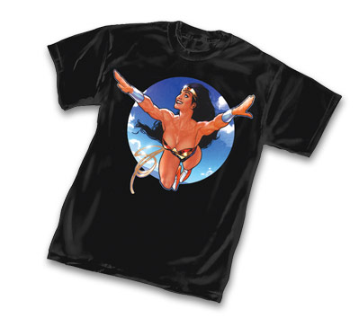 WONDER WOMAN: FLYING HIGH T-Shirt by Adam Hughes