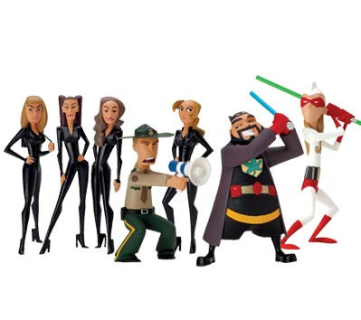 J&SBSB: InAction Figures - Set of seven (7)