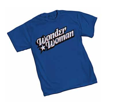 WONDER WOMAN DISTRESSED LOGO T-Shirt • L/A