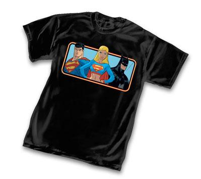 SUPERGIRL, BATMAN & SUPERMAN T-Shirt • L/A