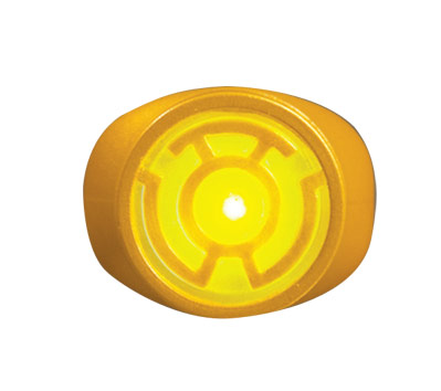 YELLOW LANTERN: LIGHT-UP POWER RING