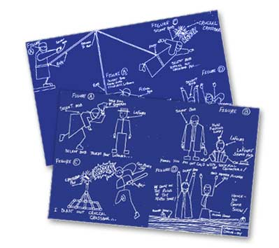 Graphitti designscomic book shirts more jay silent bobs blueprint poster set malvernweather Image collections