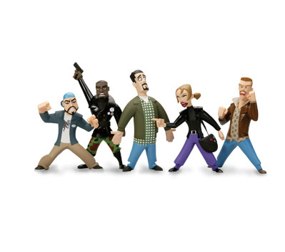CHASING AMY InAction Figures - Set of five (5)