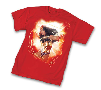 WONDER WOMAN: GOLDEN LASSO T-Shirt by Adam Hughes