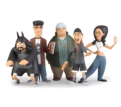 MALLRATS InAction Figures - Set of five (5)