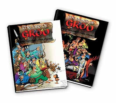 DEATH & LIFE OF GROO Ltd. Book by Aragonés & Evanier