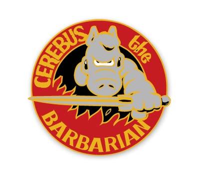 CEREBUS #1: BARBARIAN Cloisonne Pin