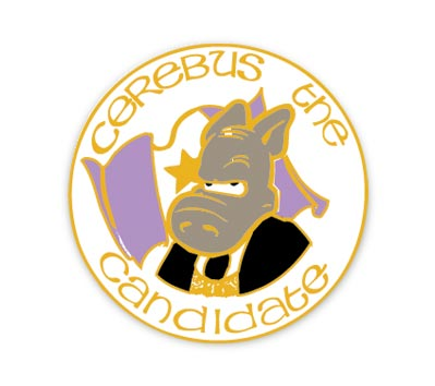 CEREBUS #2: CANDIDATE Cloisonne Pin