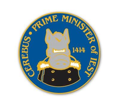 CEREBUS #3: PRIME MINISTER Cloisonne Pin