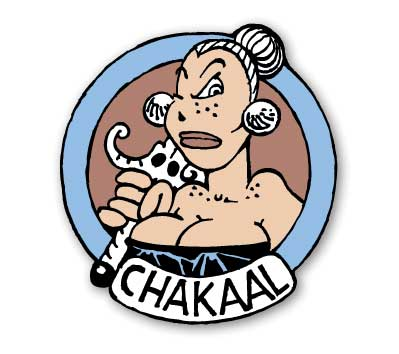 GROO #6: CHAKAAL Cloisonne Pin