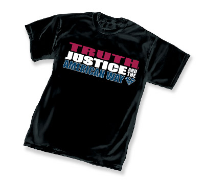 TRUTH, JUSTICE AND THE AMERICAN WAY LOGO T-Shirt � L/A