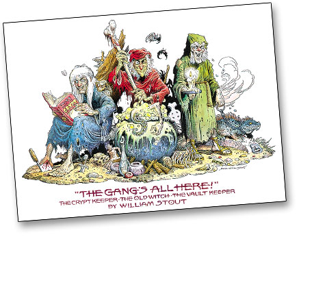 E.C. COMICS: THE GANG'S ALL HERE by Bill Stout