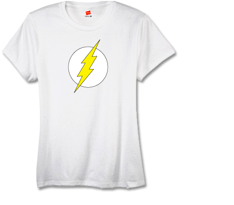 FLASH SYMBOL Women's Tee (white) • L/A