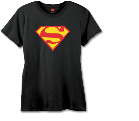 SUPERGIRL SYMBOL II Women's Tee (black)