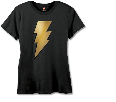 BLACK ADAM METALIX SYMBOL Women's Tee • L/A