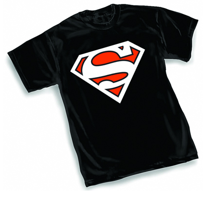 ANIMATED SUPERMAN BLACK SYMBOL T-Shirt • L/A