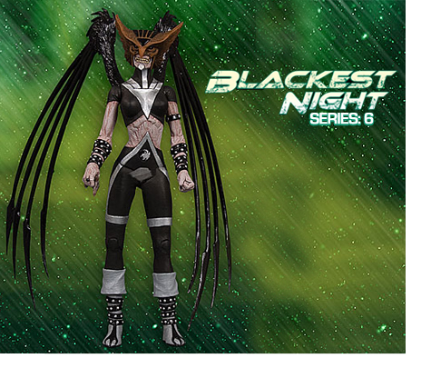BLACKEST NIGHT: SERIES 6 • HAWKGIRL ACTION FIGURE