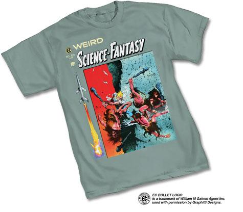 E.C. COMICS: WSF #29 T-Shirt by Frank Frazetta