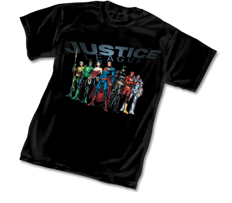 JUSTICE LEAGUE T-Shirt by Jim Lee • L/A