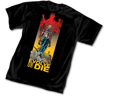ANIMAL MAN: EVOLVE OR DIE T-Shirt by Travel Foreman
