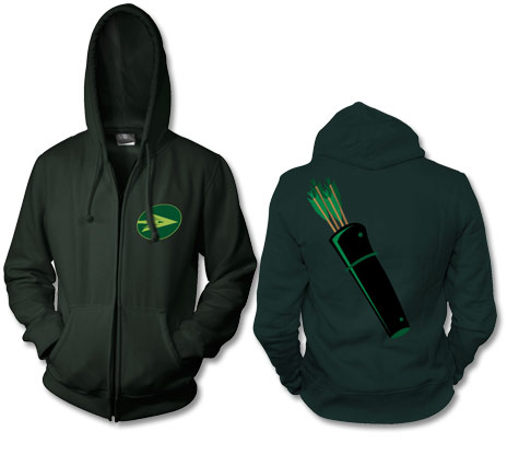 GREEN ARROW Full-Zip Hoodie