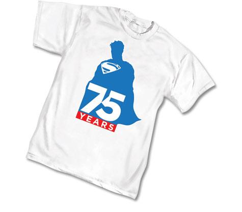 SUPERMAN 75th ANNIVERSARYLOGO T-Shirt • L/A