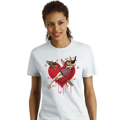 HARLEY QUINN: HEARTBREAK Women's Tee by Amanda Conner