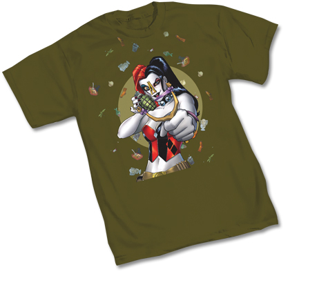 HARLEY QUINN: STINK-BOMB T-Shirt by Amanda Conner