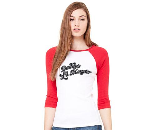 SUICIDE SQUAD: HARLEY DLM Baseball Shirt