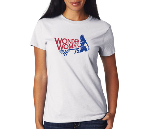WONDER WOMAN 75th ANNIVERSARY Women's Tee