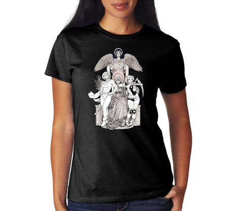 HARLEY QUINN/POWER GIRL II Women's Tee by Frank Cho